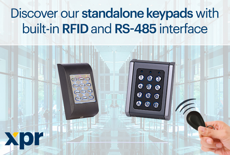 Check out our XPR standalone readers working with both keypad and RFID technology!