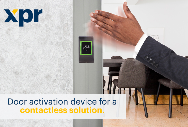 The MTT-IR is the first XPR IR exit button with relay activation by hand waving